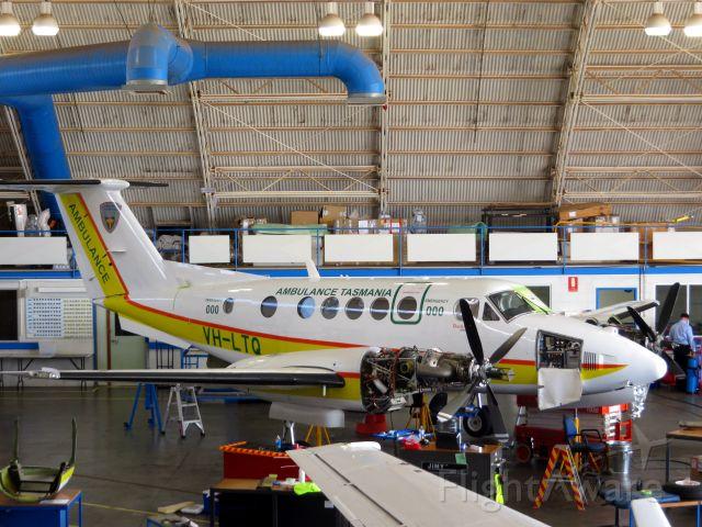 Beechcraft Super King Air 200 (VH-LTQ) - In for maintenance at Flying Doctor hangar at Broken Hill