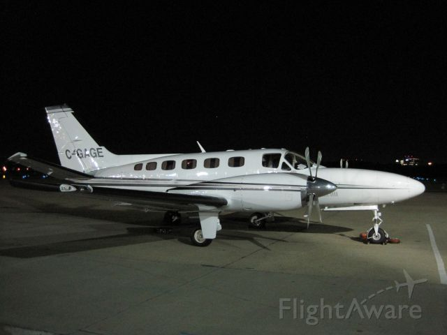 Cessna Conquest 2 (C-GAGE) - Arrival at Washington Dulles KIAD Fall 2012.