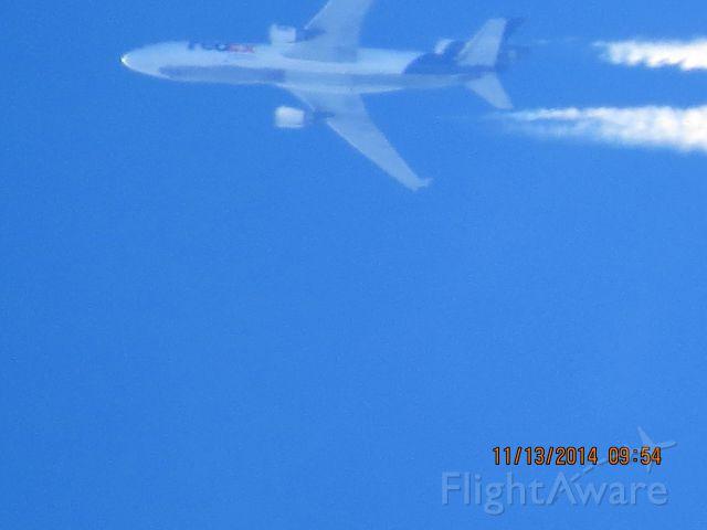 Boeing MD-11 (N596FE) - FedEx flight 429 from SEA to MEM over Southeastern Baxter Springs Kansas (78KS) at 35,000 feet.