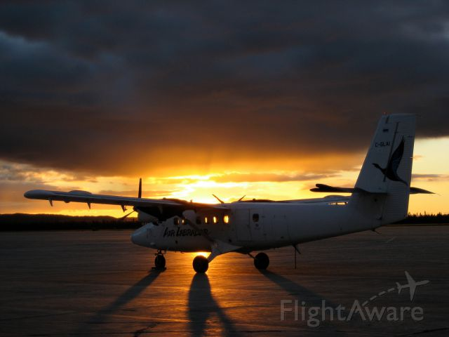 De Havilland Canada Twin Otter (C-GLAI) - C-GLAI, Air Labradors Twin Otter on the ground in Goose-Bay, Newfoundland & Labrador, after another day carrying passengers & cargo to Labradors coastal villages - September 2007