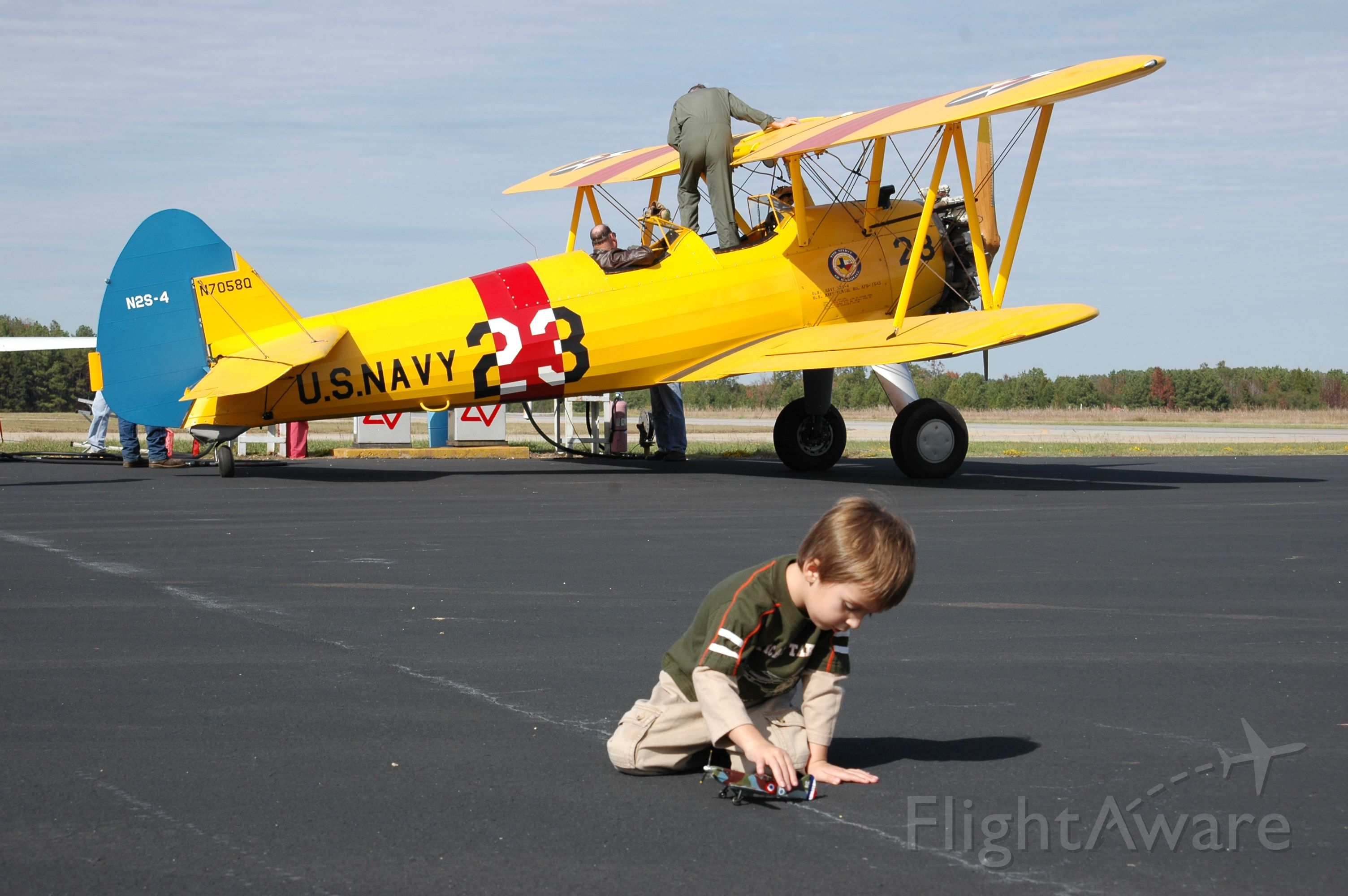 Boeing PT-17 Kaydet — - Airshow