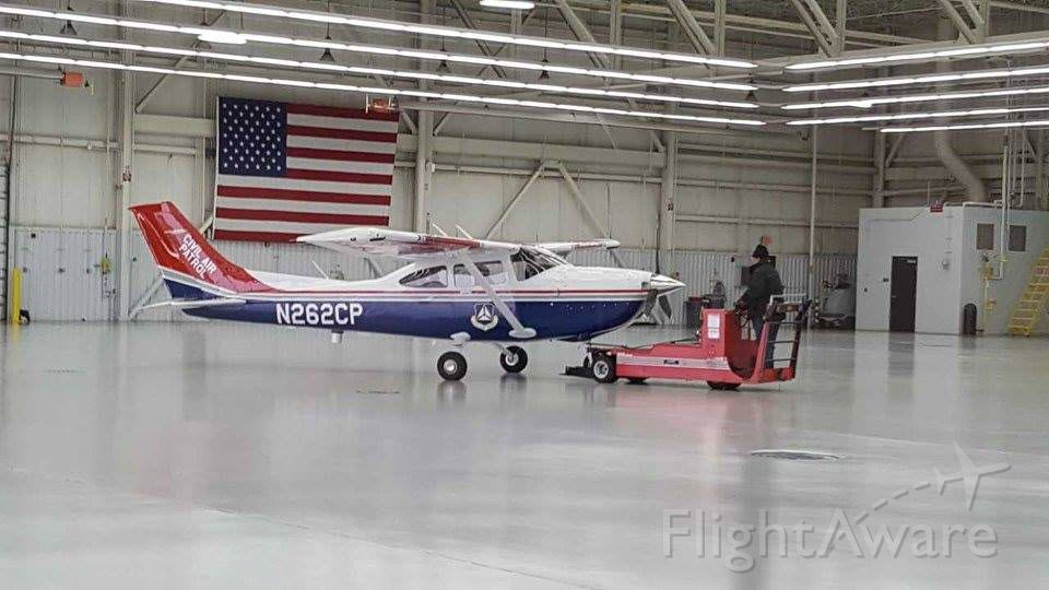 Cessna Skylane (N262CP) - In the hangar at Cessna on delivery day.