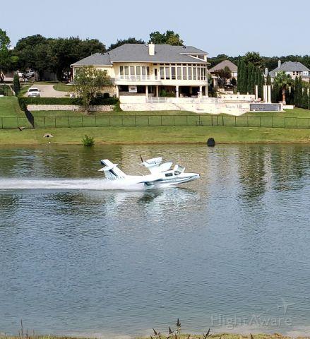 LAKE Turbo Seafury (N1404Y) - Takeoff, Lake Lewisville, Lewisville, TX