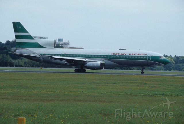 Lockheed L-1011 TriStar (VR-HOA) - Departure at Narita Intl Airport Rwy16R on 1995/05/28