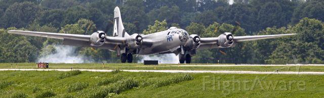 Boeing B-29 Superfortress (N529B) - Fifi landing at Lexington in April 2016