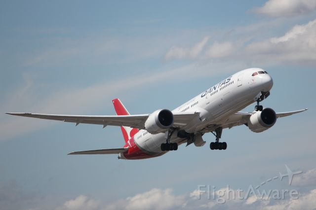 "Boeing 787-9 Dreamliner (VH-ZNB) - ""Waltzing Matilda"" with GEnx-1B engines."