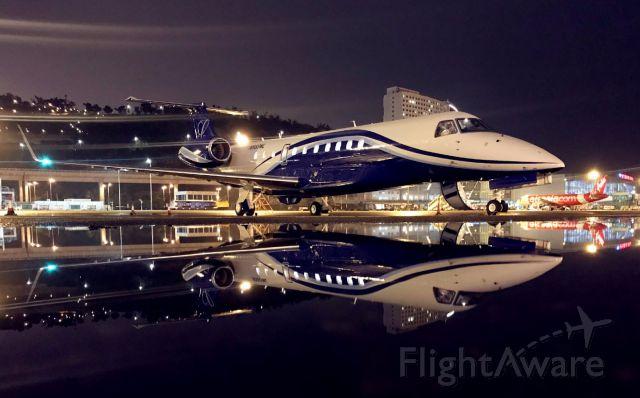 Embraer ERJ-135 (N888ML) - Pretty plane in the beautiful city/island of Macau!
