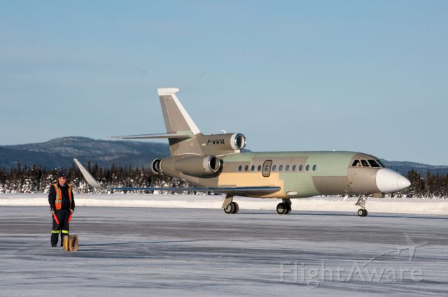 Dassault Falcon 20 (F-WWVA) - New aircraft heading to USA for further manufacturing