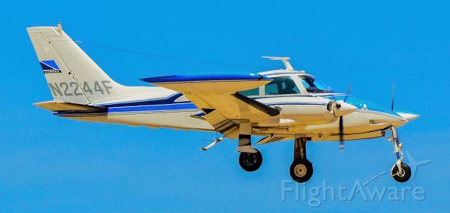 Cessna 310 (N2244F) - N2244F 1966 Cessna 310L s/n 310L-0044 -North Las Vegas Airport IATA: VGT, ICAO: KVGT, VGT<br />Photo: Tomas Del Coro<br />April 22, 2011