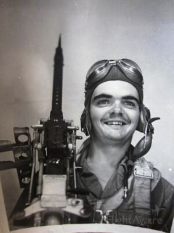 """— — - This is Harry Oliver Tippens, """" Junie """". His B-17 was forced down by FLAK. He did not survive. He was married 2 weeks before going to war. He was the flight engineer and waist gunner on B-17 serial number Boeing 42-31426. 301st Bomber group,  352 sq. Lucara Italy. Departed Foggia, Italy. primary Target, Styer, Austria. 26 March 1944. Please look at the link to my web site for more photo's and MACR crash report."""