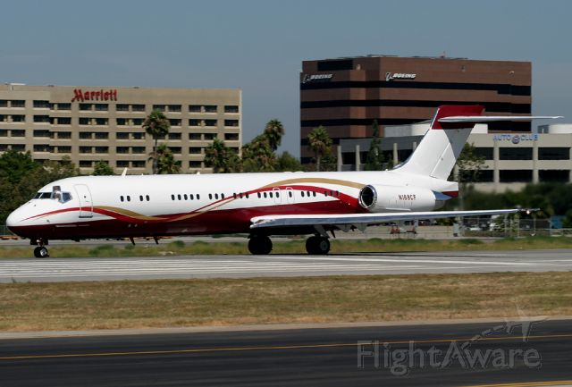 McDonnell Douglas MD-87 (N168CF) - MD-87 N168CF (49670/1453) operated by the Sunrider Corporation rolls for takeoff on Rwy 30 at Long Beach.