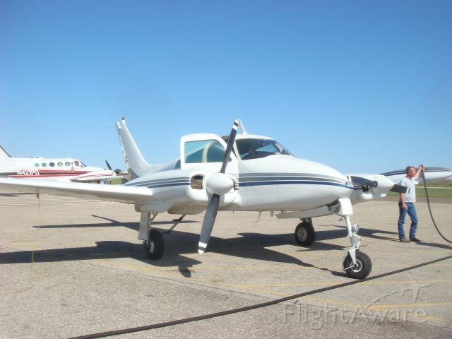 Cessna 310 (N8097M) - Fill her Up!