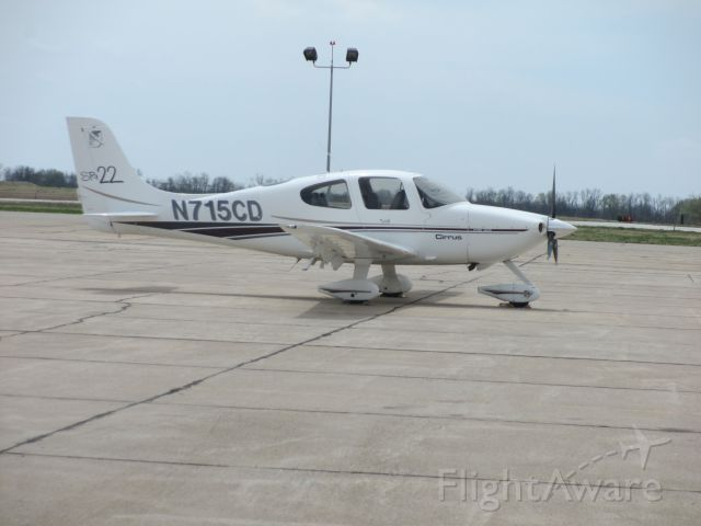 Cirrus SR-22 (N715CD) - N715CD,nearly a year after a failed parachute landing.Pictured here,in Joplin,MO.