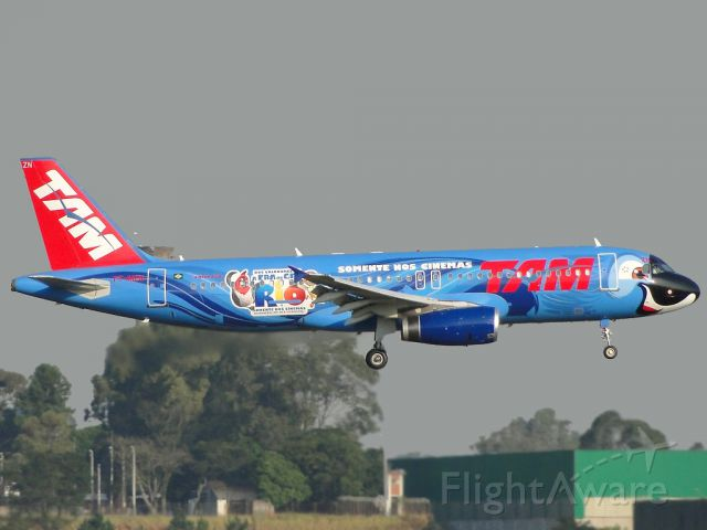 "Airbus A320 (PT-MZN) - Special colours movie ""RIO""."