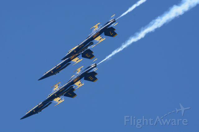 — — - Blue Angels over San Francisco bay