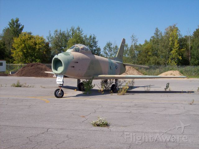 North American F-86 Sabre (53-1519) - Prior to restoration / permanent display.<br />Syracuse, ANGB. via KODAK EASYSHARE C643 ZOOM DIGITAL CAMERA.