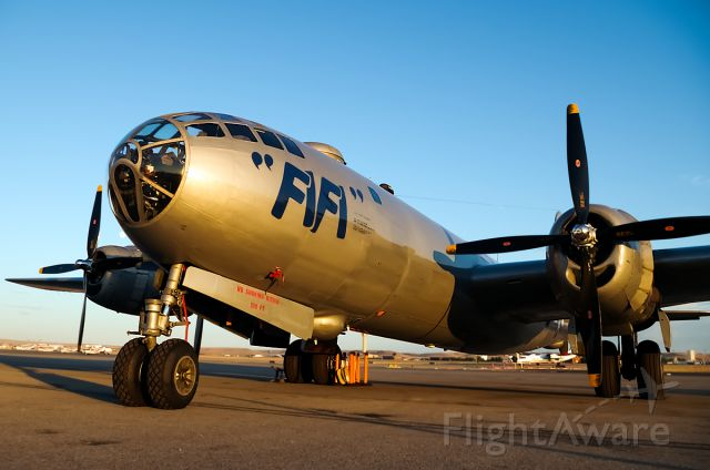 Boeing B-29 Superfortress (NX529B) - FiFi in Boise. Lucky enough to get out there durring sunset, thanks to Sean at Jackson Jet Center for helping me get out there!