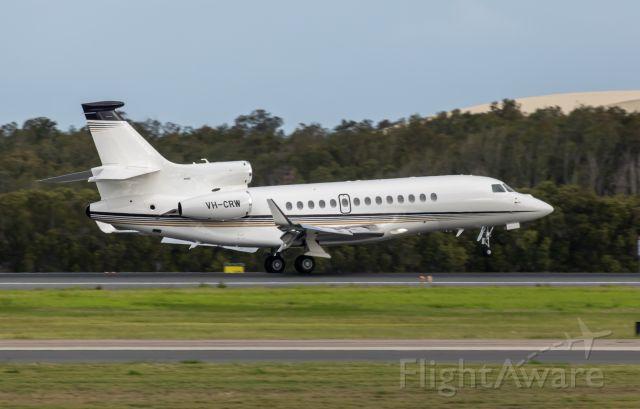 Dassault Falcon 7X (VH-CRW) - Landing runway runway 19L.