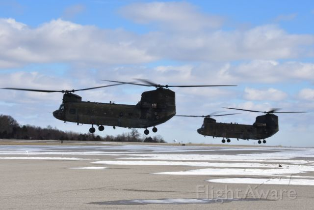 ASAP Chinook — - A pair of CH-47 Chinooks departing the ramp