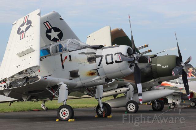 Douglas AD Skyraider (N65164) - Skyraiders on the Flight Line.