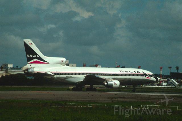 Lockheed L-1011 TriStar (N753DA) - Departure at Narita Intl Airport Rwy16 on 1987/09/10
