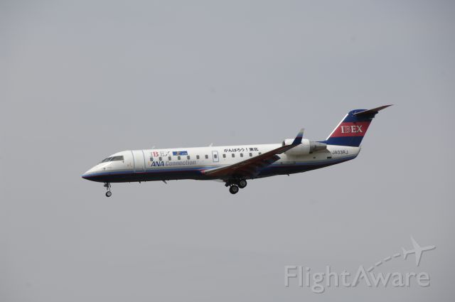 Canadair Regional Jet CRJ-200 (JA03RJ) - Final Approach to Narita Intl Airport R/W16L on 2011/5/9 Gannbarou! Touhoku Title