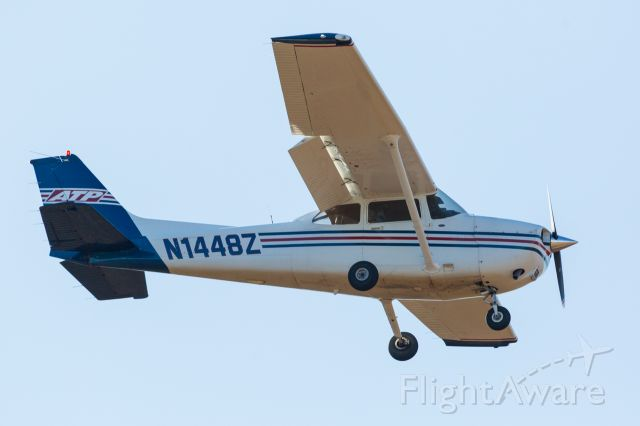 Cessna Skyhawk (N1448Z) - On final for runway 36 in Nacogdoches.