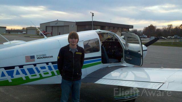 Piper Cherokee (N44081) - My Son (14) First Flight!