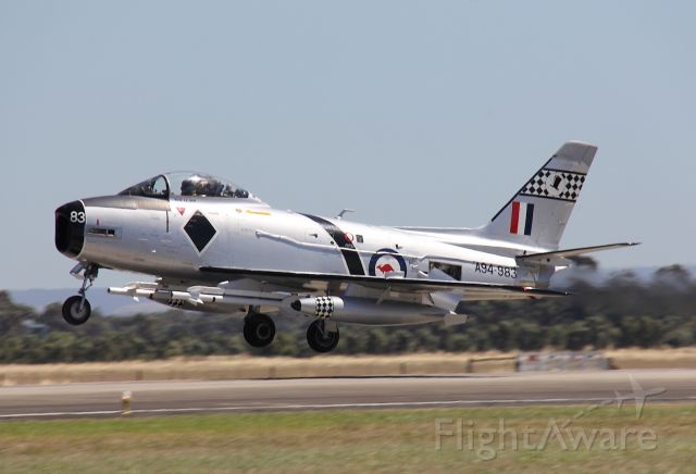 North American F-86 Sabre (A94983) - This is a CAC CA-27, a version of the F-86 Sabre, manufactured in Australia<br />Photo: 02.03.2013