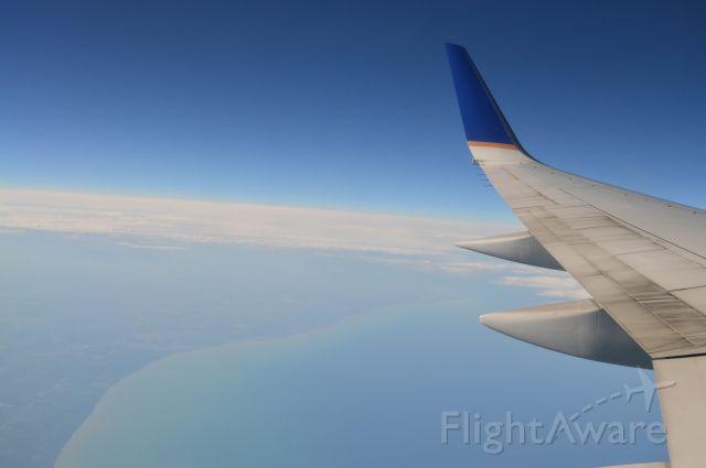Boeing 757-200 — - Lake Michigan. SFO-EWR