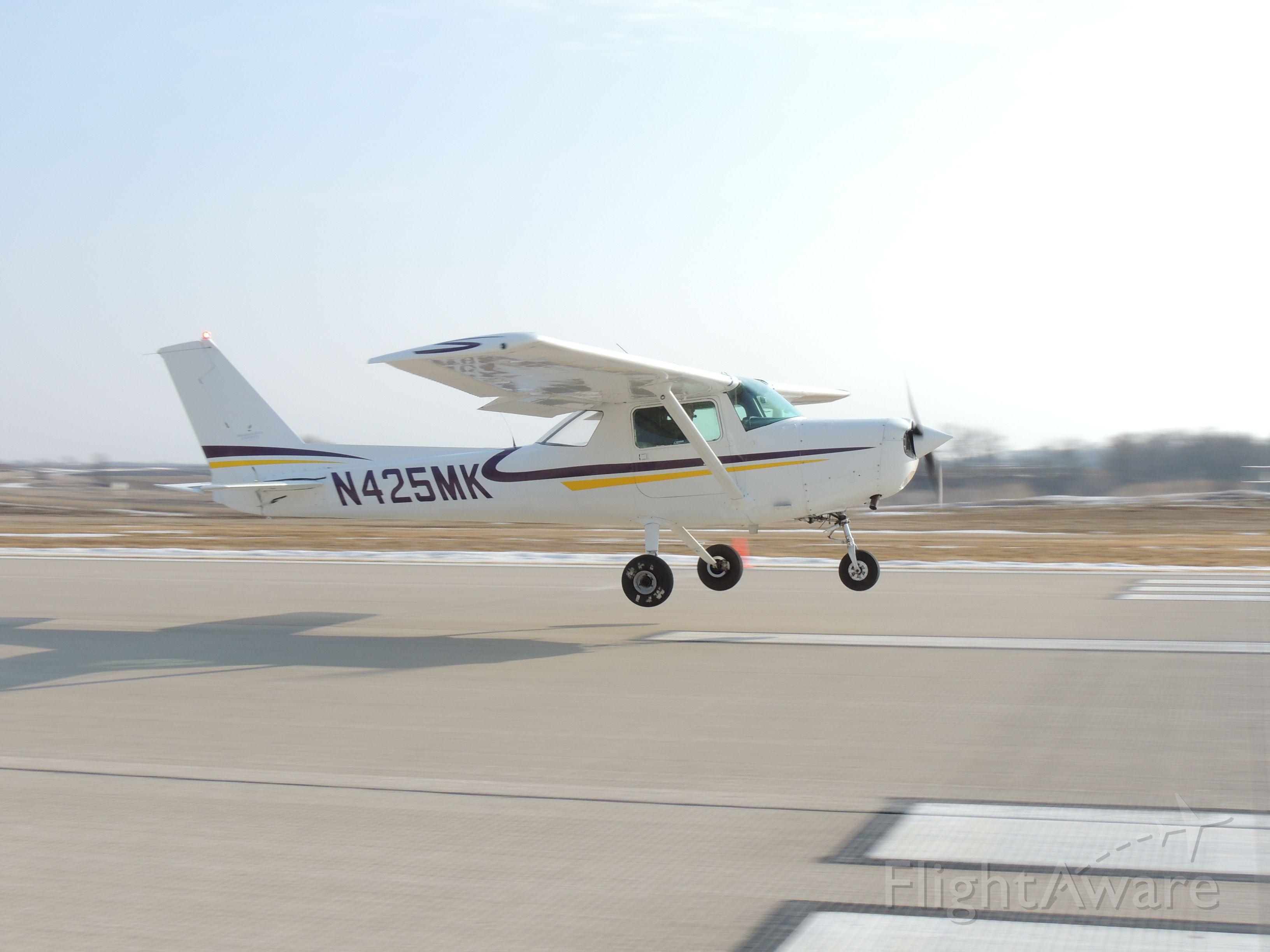 Cessna 152 (N425MK) - Maverick Flight Team's Cessna 152 practicing NIFA Competition Landings at KMKT