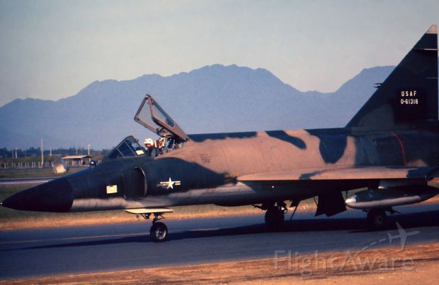 — — - F-102 Delta Daggers, stationed at Danang AB Vietnam were used to identify unknown aircraft approaching friendly airspace. This particular aircraft was about to take off on a Functional Check Flight after routine maintenance.