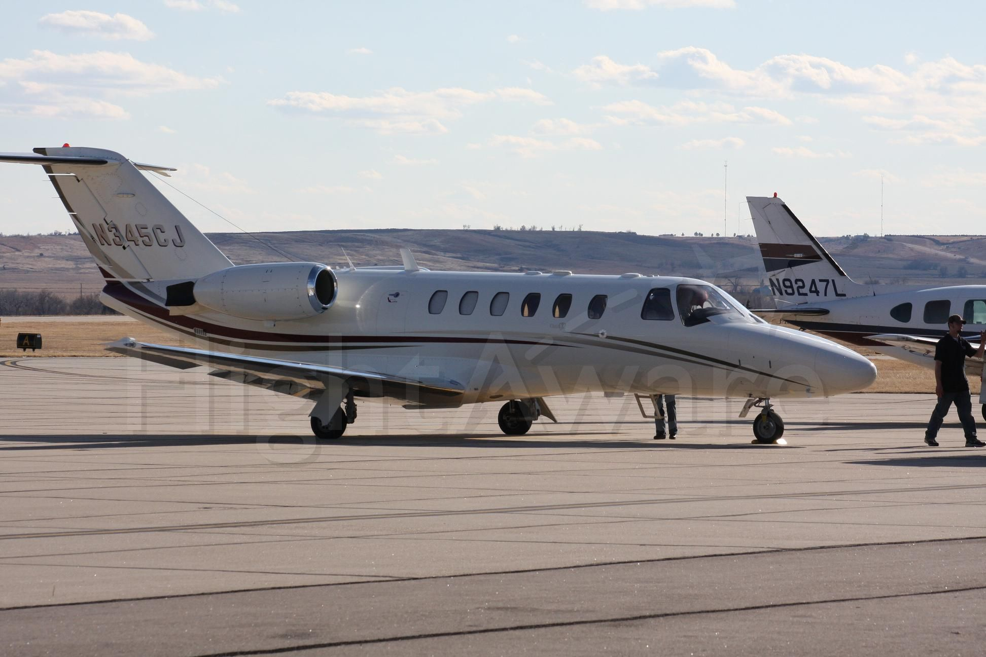 Cessna Citation CJ2+ (JETRACN) - the plane just got in from Washington State and I caught it as it shut down at McCook Regional Airport  Ne