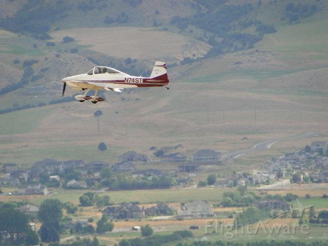 N74ST — - Homebuilt 2 seater, Bushby M-II, coming in for a landing at Logan-Cache airport.   I was trying out my new superzoom lens, and pretty pleased with the results.