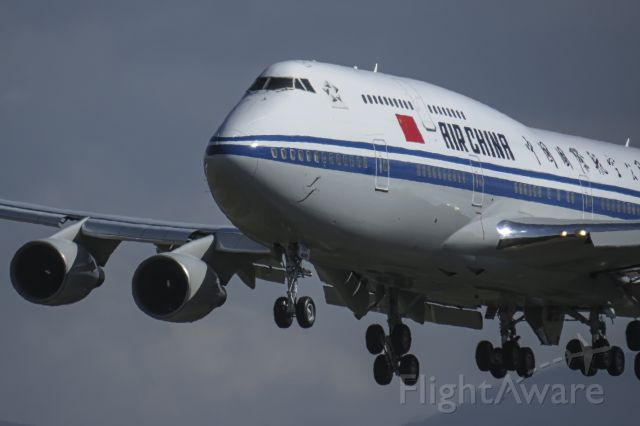 Boeing 747-400 (B-2472) - Xi Jinping, president of China, arrives in Quito.