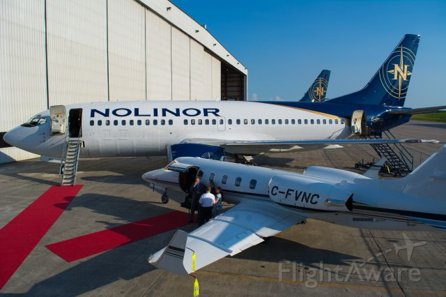 BOEING 737-300 (C-GNLQ) - Red carpet for the very first 737-300 of Nolinor!