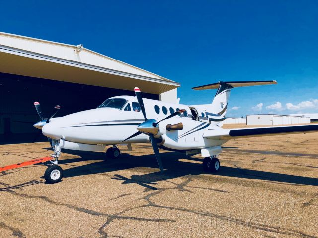 Beechcraft Super King Air 200 (N200DA) - N200DA towed out for her first flight in Amarillo.