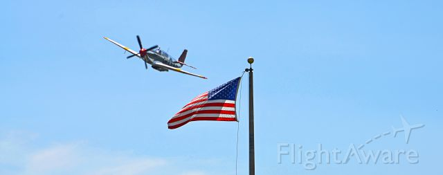 North American P-51 Mustang (N251MX) - Angle timing luck.