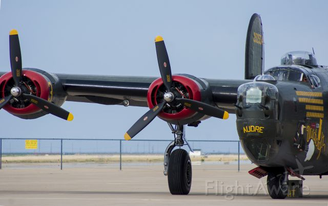 """Consolidated B-24 Liberator (NX224J) - This B-24 Liberator, along with B-17 """"Nine O Nine"""" and P-51 """"Betty Jane"""" made a several day pitstop in Amarillo in April of 2012."""