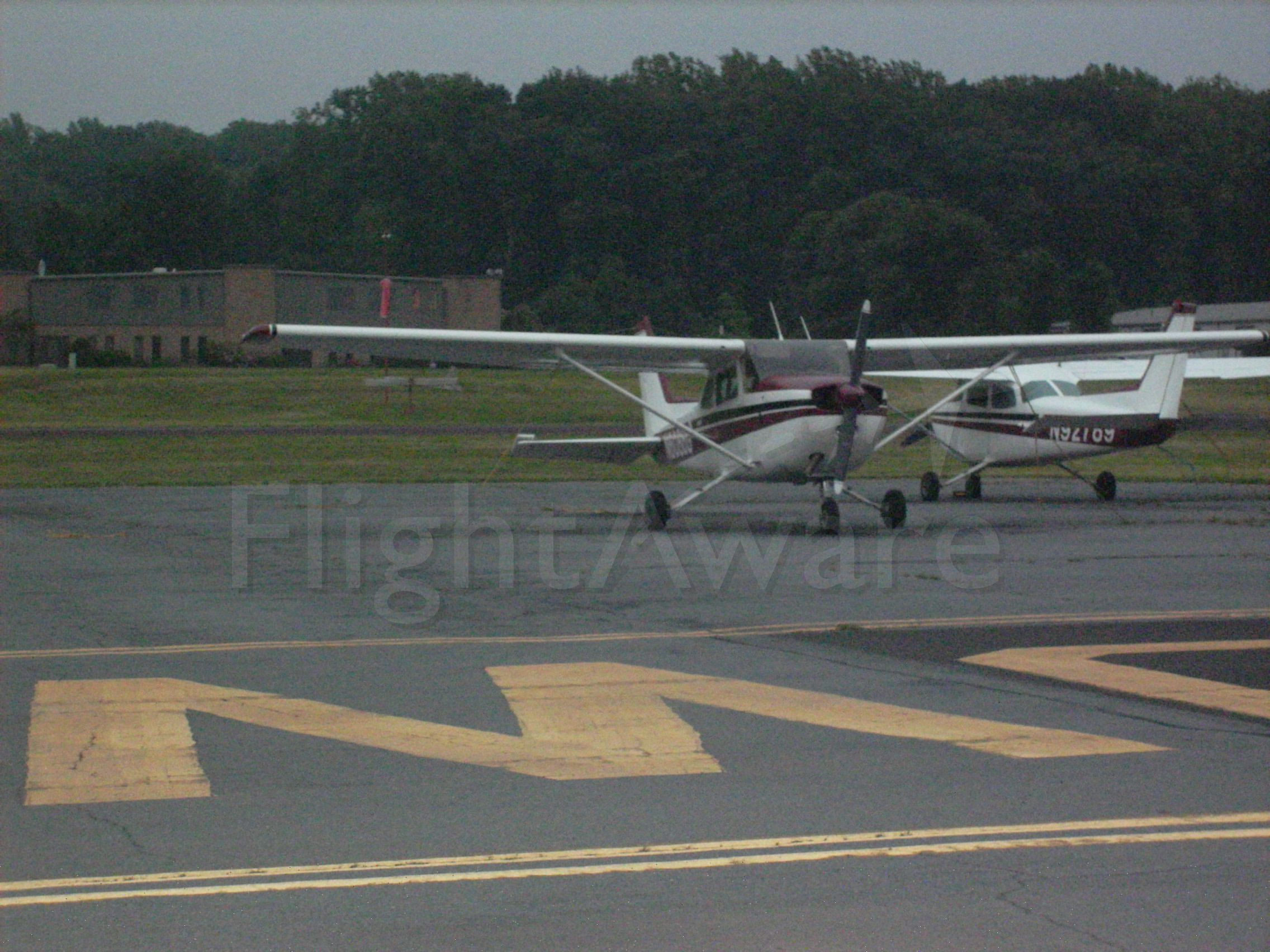 Cessna Skyhawk — - A blurry picture of this Cessna 172 parked on the ramp at the Doylestown Airport in Prnnsylvania.