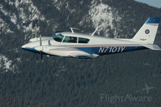 Piper PA-30 Twin Comanche (N7101Y) - Over Lake Tahoe