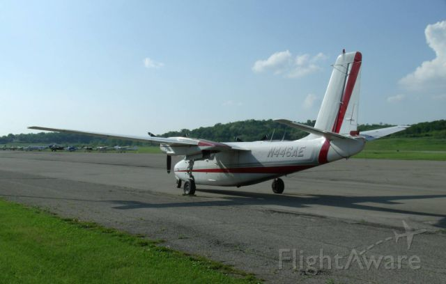 Aero Commander 500 (N446AE) - beautiful day for flying at KHAO