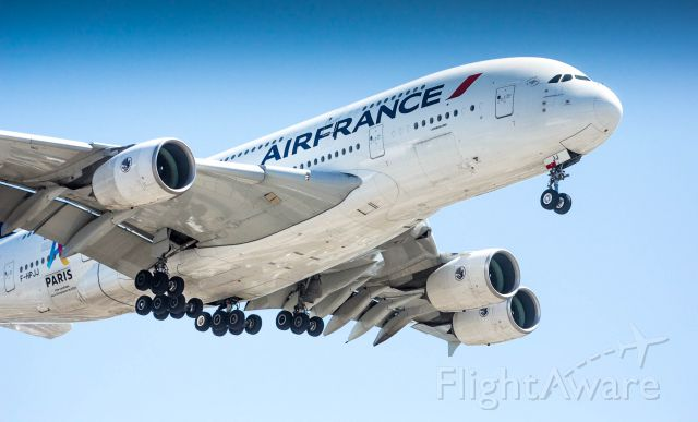 Airbus A380-800 (F-HPJJ) - A380 painted in the 2024 Paris Olympic candidate livery.