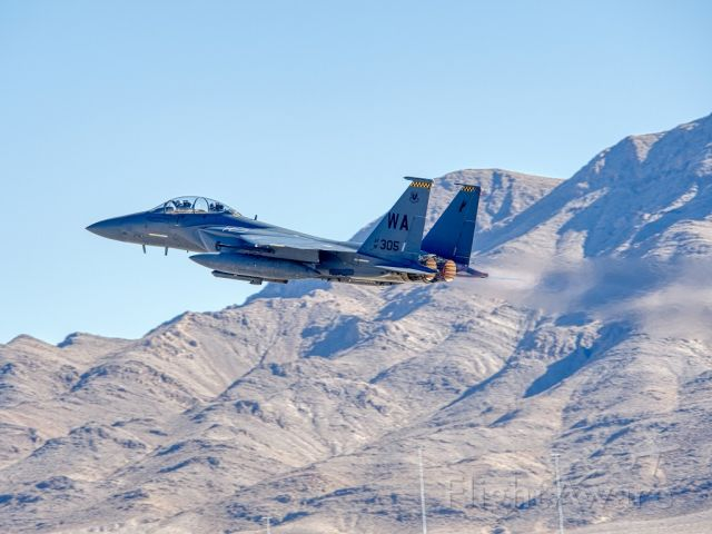91-0305 — - Nov 2019 F-15E Strike Eagle from the 57th flying at Aviation Nation, Nellis AFB,  NV