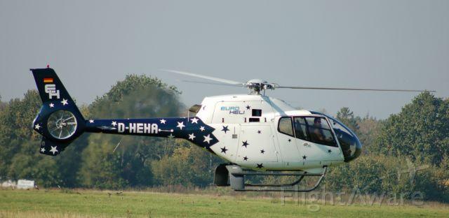 D-HEHA — - Eurocopter EC-120B Colibri (D-HEHA) at Uetersen Airfield in Germany.