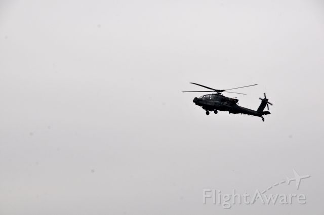 Boeing Longbow Apache — - Soldiers with Charlie Company, 1-151 Attack Reconnaissance Battalion conducts a training flight in an AH-64 Apache helicopter over Fort Indiantown Gap, April 21, 2017.