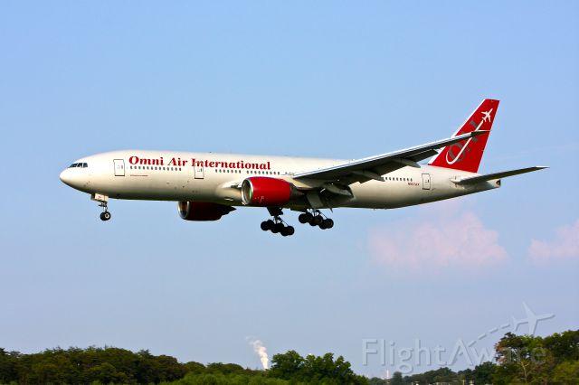 Boeing 777-200 (N927AX) - Omni Air International N927AX seen here landing at BWI on 33L August 2, 12012.