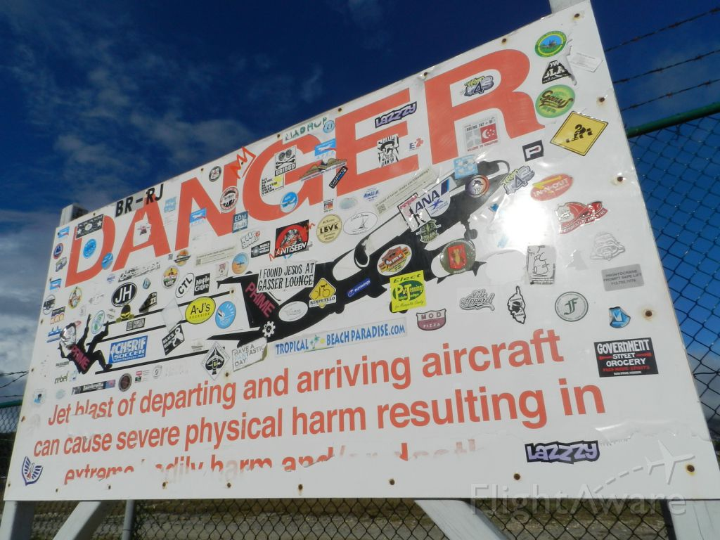 — — - The most famous warning sign in the Island of St. Maarten!