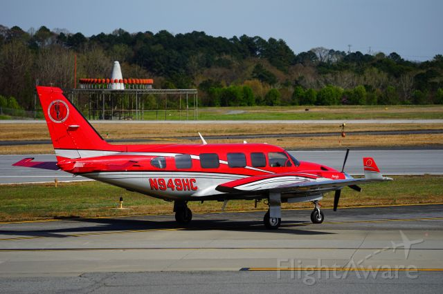 Piper Navajo (N949HC) - Elevated observation platform at Dekalb Peachtree Airport.