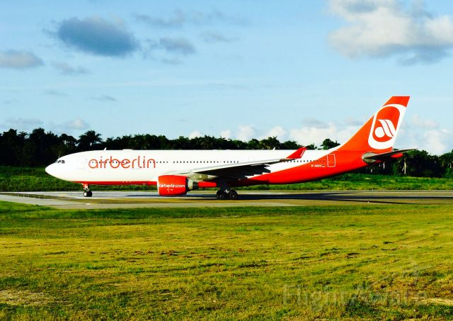 Airbus A330-200 (D-ABXC) - Air Berlin A332 TAXING FOR FINAL POSITION ON THE RUNWAY 8 AT MDPP AIRPORT!